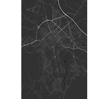 Uppsala, Sweden Map. (White on black) Photographic Print
