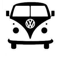 VW splittie bus outline by blanchy