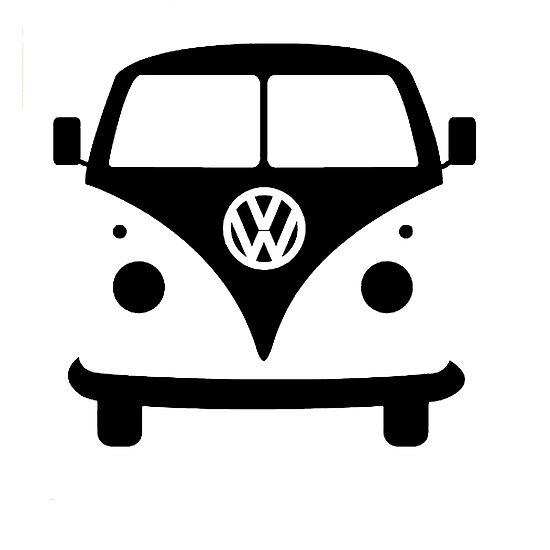 VW splittie bus outlin...