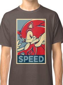 Sonic the Hedgehog V2 (Obama Hope Poster Parody) Classic T-Shirt
