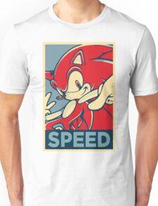 Sonic the Hedgehog V2 (Obama Hope Poster Parody) Unisex T-Shirt