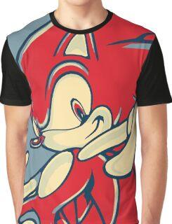 Sonic the Hedgehog V2 (Obama Hope Poster Parody) Graphic T-Shirt
