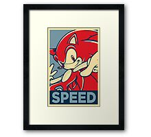 Sonic the Hedgehog V2 (Obama Hope Poster Parody) Framed Print