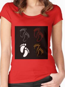 Baby shower graphic  Women's Fitted Scoop T-Shirt