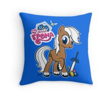 My Little Epona Throw Pillow