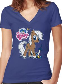 My Little Epona Women's Fitted V-Neck T-Shirt