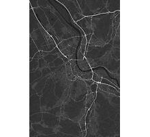 Basel, Switzerland Map. (White on black) Photographic Print