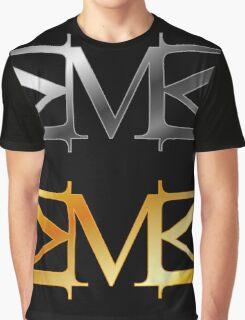 Alphabet M logo in gold and silver  Graphic T-Shirt