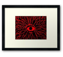 RED Mushy trip Framed Print