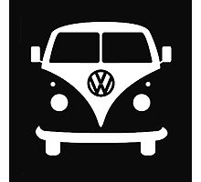 VW splittie bus outline_ Kombi outline Photographic Print