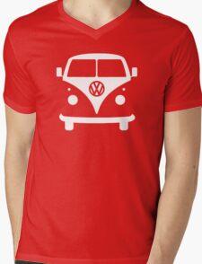 VW splittie bus outline_ Mens V-Neck T-Shirt