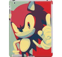 Sonic the Hedgehog -- Obama Hope Poster Parody iPad Case/Skin
