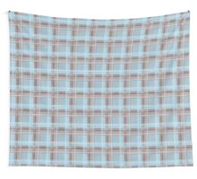 Seamless texture in the cage blue Wall Tapestry