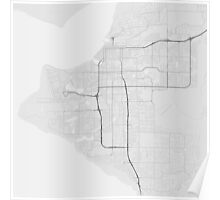 Anchorage, USA Map. (Black on white) Poster