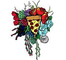 Bouquet fit for me:Pizza Photographic Print