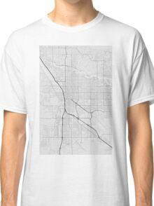Tucson, USA Map. (Black on white) Classic T-Shirt