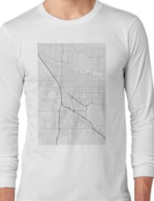 Tucson, USA Map. (Black on white) Long Sleeve T-Shirt