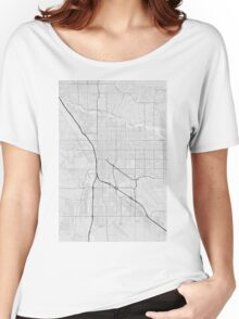 Tucson, USA Map. (Black on white) Women's Relaxed Fit T-Shirt