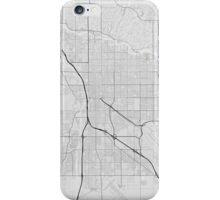 Tucson, USA Map. (Black on white) iPhone Case/Skin