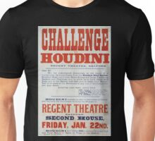 Performing Arts Posters Challenge to Houdini Regent Theatre Salford 1605 Unisex T-Shirt