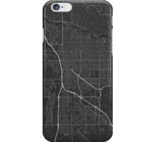 Tucson, USA Map. (White on black) iPhone Case/Skin