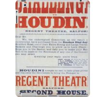 Performing Arts Posters Challenge to Houdini Regent Theatre Salford 1605 iPad Case/Skin