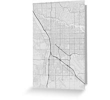 Tucson, USA Map. (Black on white) Greeting Card