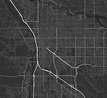 Tucson, USA Map. (White on black) by Graphical-Maps