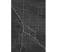 Tucson, USA Map. (White on black) Photographic Print
