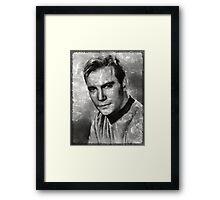 William Shatner Star Trek's Captain Kirk Framed Print