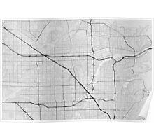 Anaheim, USA Map. (Black on white) Poster