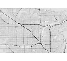 Anaheim, USA Map. (Black on white) Photographic Print