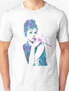 Audrey Hepburn Watercolor Pop Art  Unisex T-Shirt