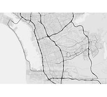 Chula Vista, USA Map. (Black on white) Photographic Print