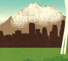 """""""Visit The Space Needle"""" travel poster Sticker"""