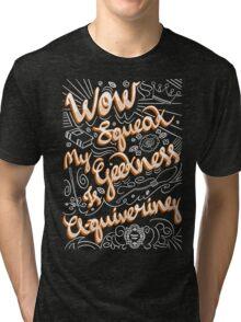 Wow. Squeak. Tri-blend T-Shirt