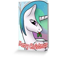 Princess Celestia Christmas Card - Postcard My Little Pony Greeting Card