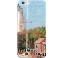 Parked by Ocracoke Light iPhone Case/Skin