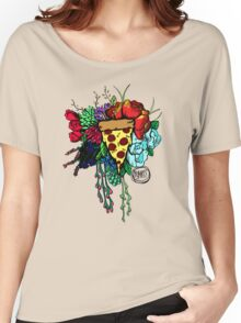 Bouquet fit for me:Pizza Women's Relaxed Fit T-Shirt