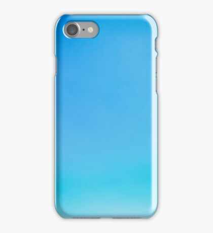 Blue Clear Sky Abstract With Copyspace iPhone Case/Skin