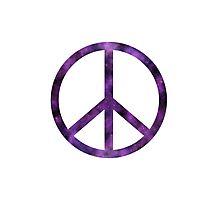 Peace Sign - Purple Photographic Print