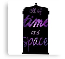 Doctor Who - All of Time And Space Canvas Print