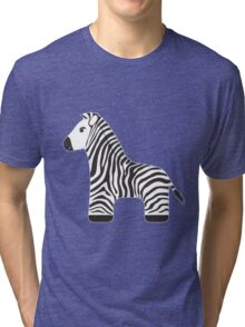 Cartoon Zebra Tri-blend T-Shirt