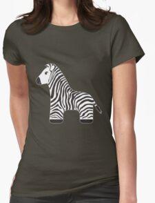 Cartoon Zebra Womens Fitted T-Shirt