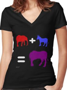 R & D Ends (Dark Background) Women's Fitted V-Neck T-Shirt