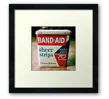 Band-Aid Box Framed Print