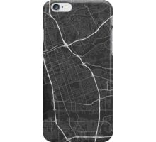 Chula Vista, USA Map. (White on black) iPhone Case/Skin