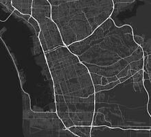 Chula Vista, USA Map. (White on black) by Graphical-Maps