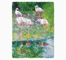 Pink Flamingos beside the Water Baby Tee