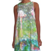 Pink Flamingos beside the Water A-Line Dress